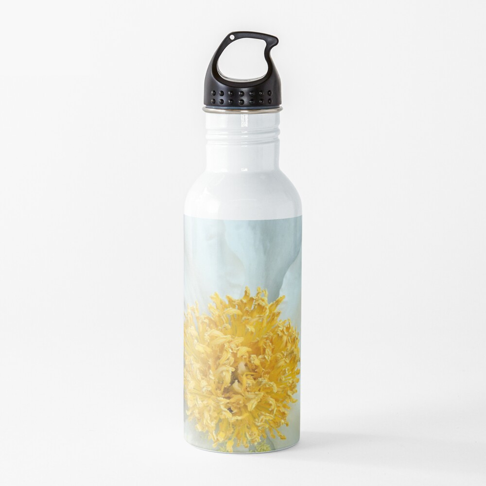 Floral Gift - Chinese Peony Photography - Gardening Present Water Bottle