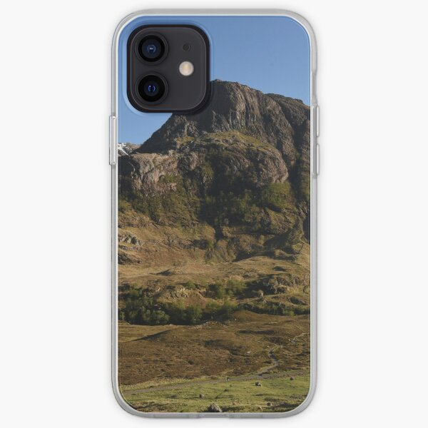 Glencoe on a summer afternoon  in the Highlands of Scotland iPhone Soft Case