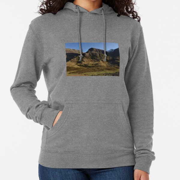 Glencoe on a summer afternoon  in the Highlands of Scotland Lightweight Hoodie