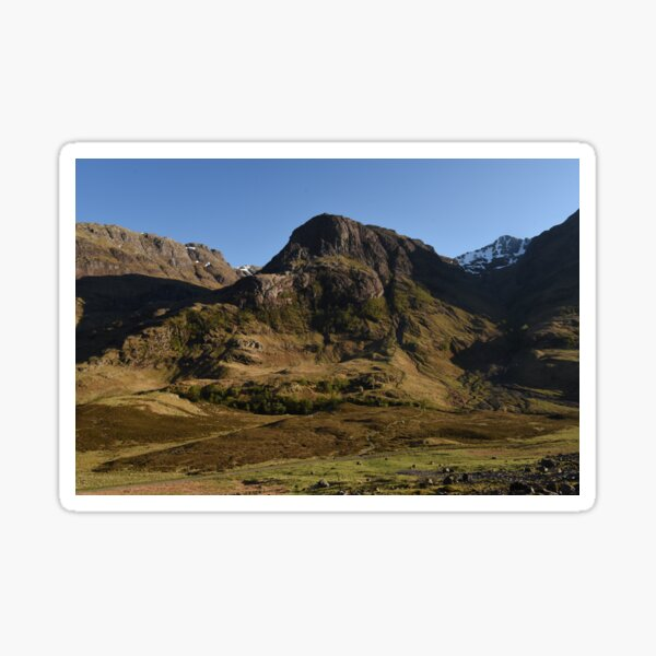 Glencoe on a summer afternoon  in the Highlands of Scotland Sticker