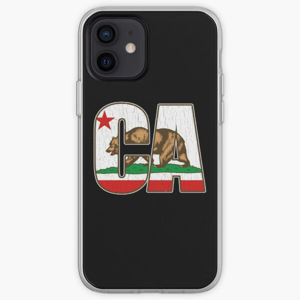 California Bear Flag (Distressed Vintage Design) iPhone Soft Case
