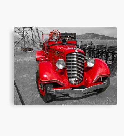 Alcatraz Fire Truck Canvas Print