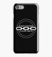 Man or Slave (White) iPhone Case/Skin