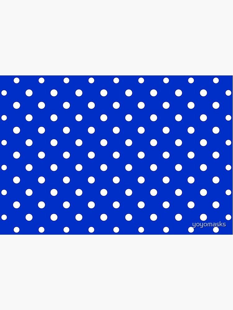 Royal Blue & White Polka Dot | Classic Pattern by yoyomasks