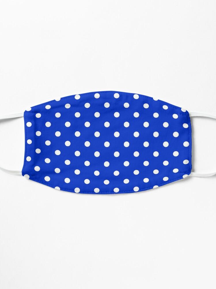 Alternate view of Royal Blue & White Polka Dot | Classic Pattern Mask