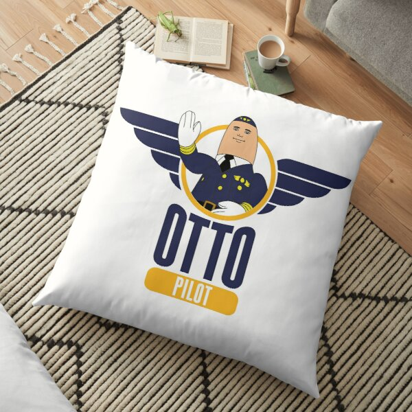 Otto the Inflatable Pilot Floor Pillow