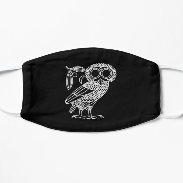 Owl of Athena [Black + Wreath and Crescent] Mask