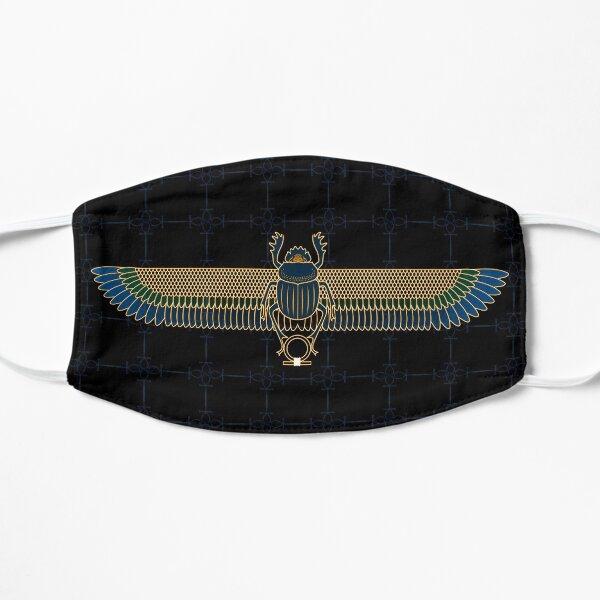 Gold & Blue Egyptian Scarab Mask Flat Mask