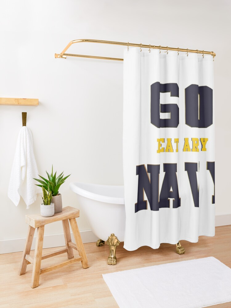 Alternate view of Go Navy, Beat Army!! Shower Curtain