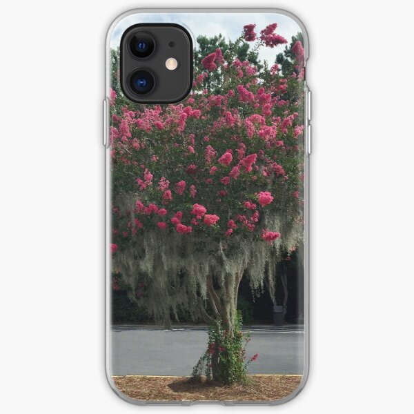 Red Crepe Myrtle iPhone Soft Case