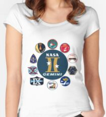 Gemini Program Composite Logo Women's Fitted Scoop T-Shirt
