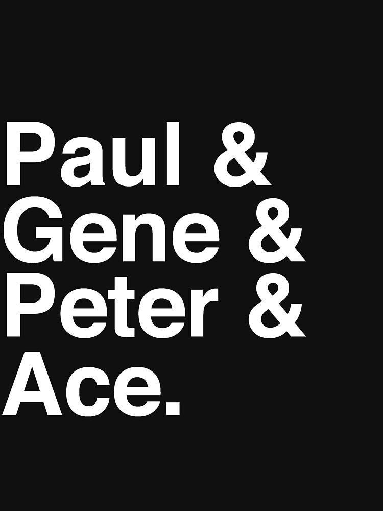 Paul & Gene & Peter & Ace Kiss T-Shirt von tcn33