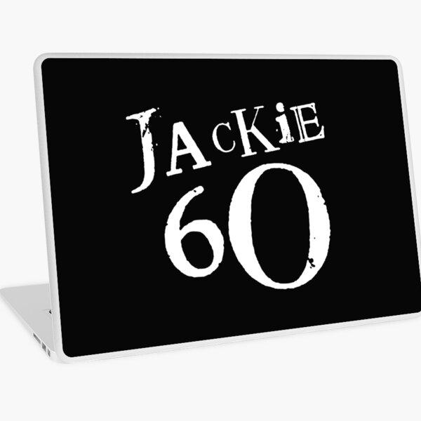 Jackie 60 Classic White Logo on Black Gear Laptop Skin