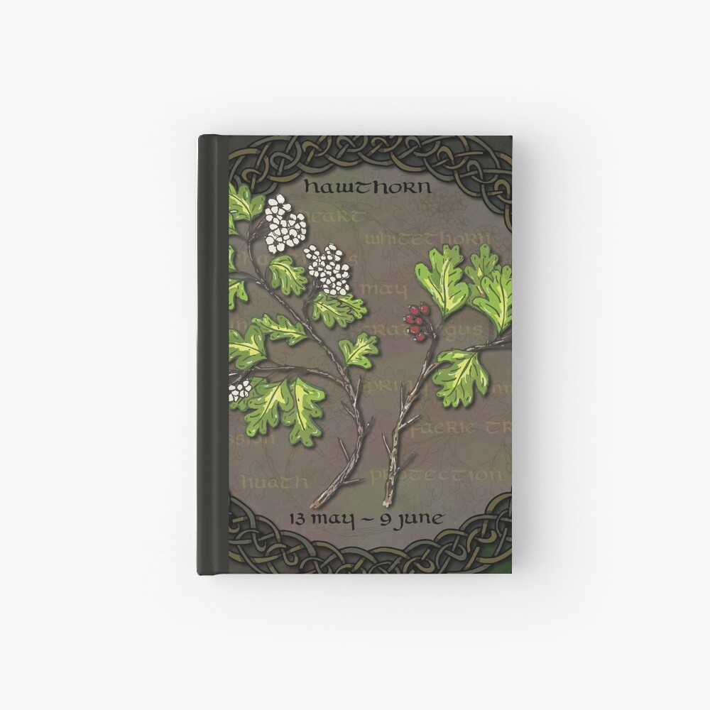 Celtic Tree Calendar - Hawthorn Hardcover Journal
