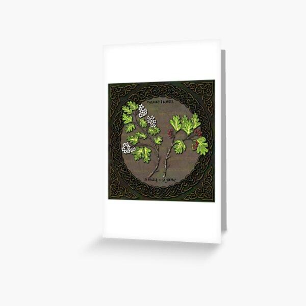 Celtic Tree Calendar - Hawthorn Greeting Card