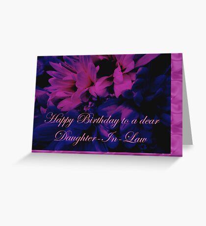 Daughter-in-Law Birthday Card        Chrysanthemum Greeting Card