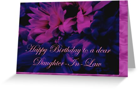 Daughter In Law Birthday Card Chrysanthemum