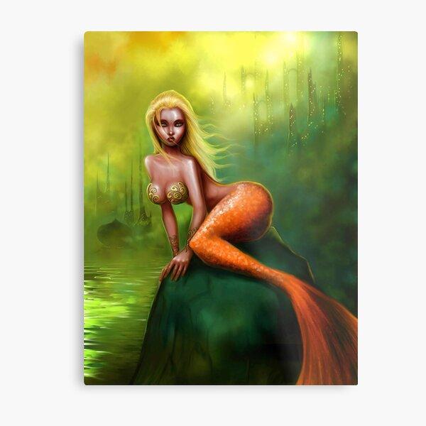 Mermaid of Atlantis Metal Print