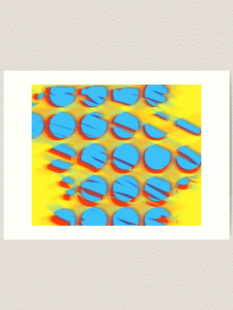Alternate view of Shattered dots Art Print