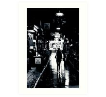 A walk in the Laneways of Melbourne Art Print