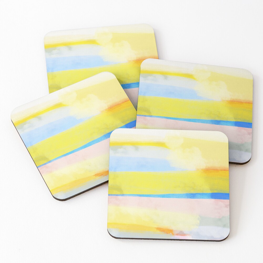 Swipes of sunlight Coasters (Set of 4)