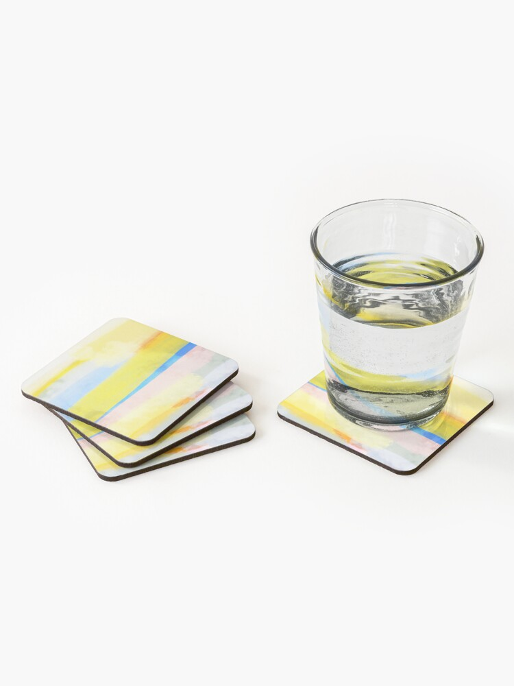 Alternate view of Swipes of sunlight Coasters (Set of 4)