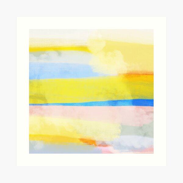 Swipes of sunlight Art Print
