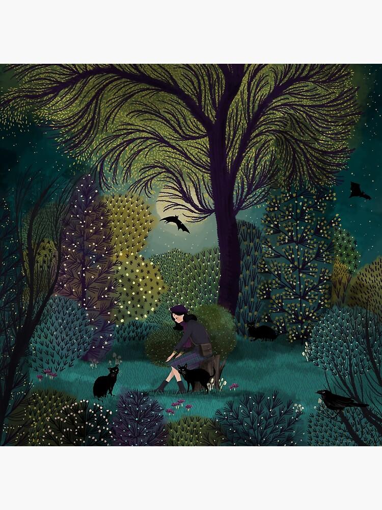 Black Cat Gathering by Jane-Newland