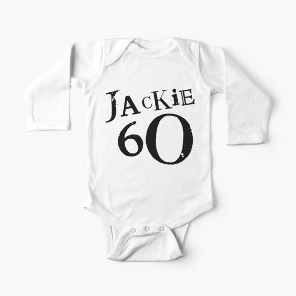 Jackie 60 Classic Black Logo on White  Long Sleeve Baby One-Piece