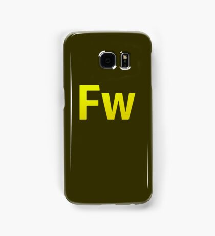 Fire Works CS6 Letters Samsung Galaxy Case/Skin