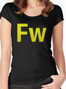 Fire Works CS6 Letters Women's Fitted Scoop T-Shirt