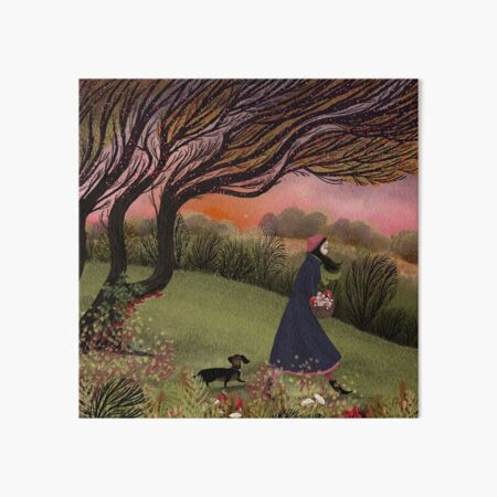 The Focussed Fungus Forager Art Board Print