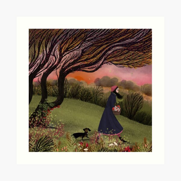The Focussed Fungus Forager Art Print