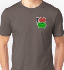 I Love Heart Iowa IA Unisex T-Shirt