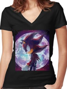 Shadow the Hedgehog Women's Fitted V-Neck T-Shirt