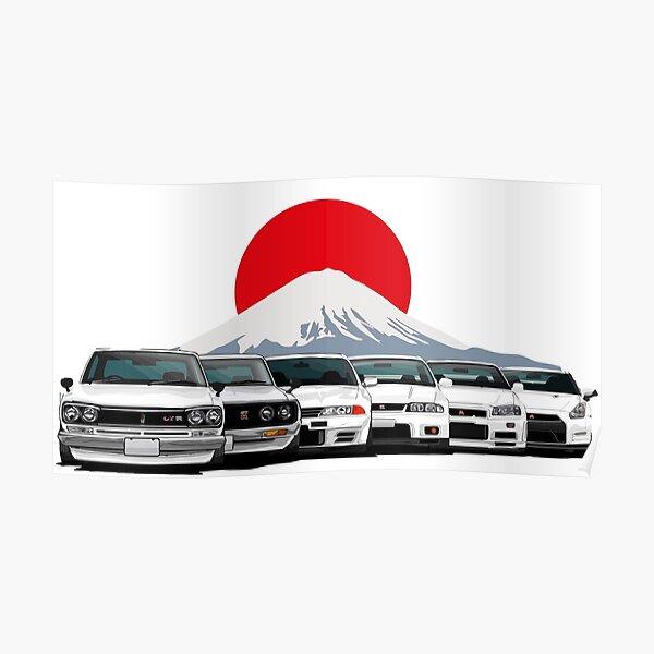 Nissan GTR Generaciones Póster