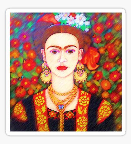 My other Frida Kahlo with butterflies  Sticker