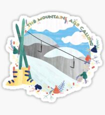 The Mountains Are Calling - Slopes Sticker