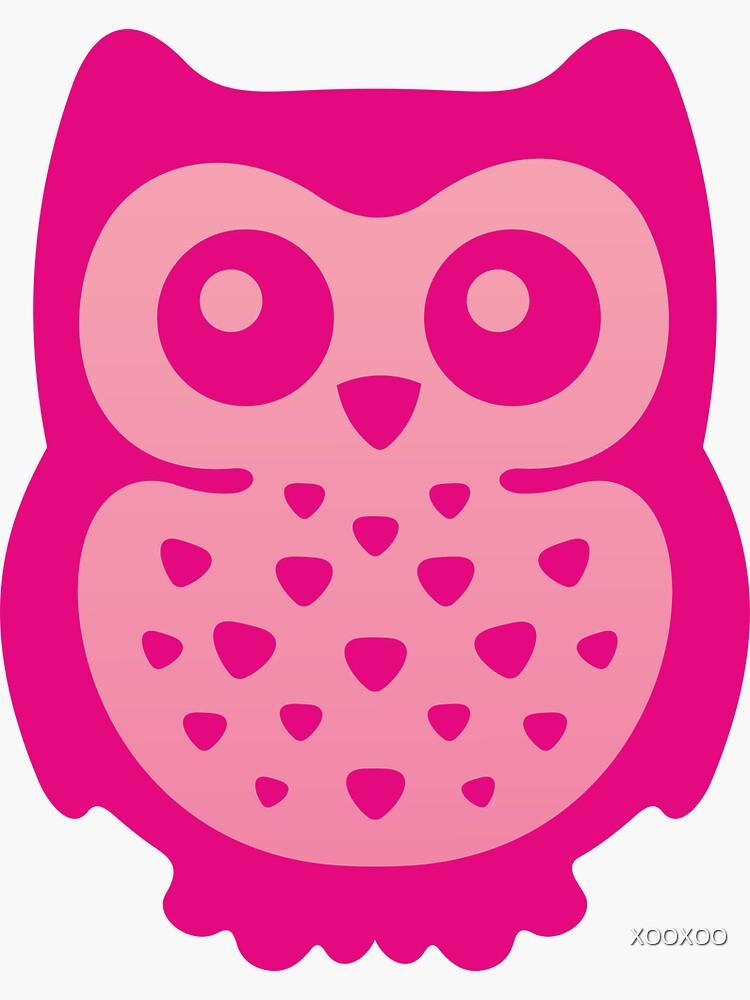 Nette rosa Baby-Eule von XOOXOO