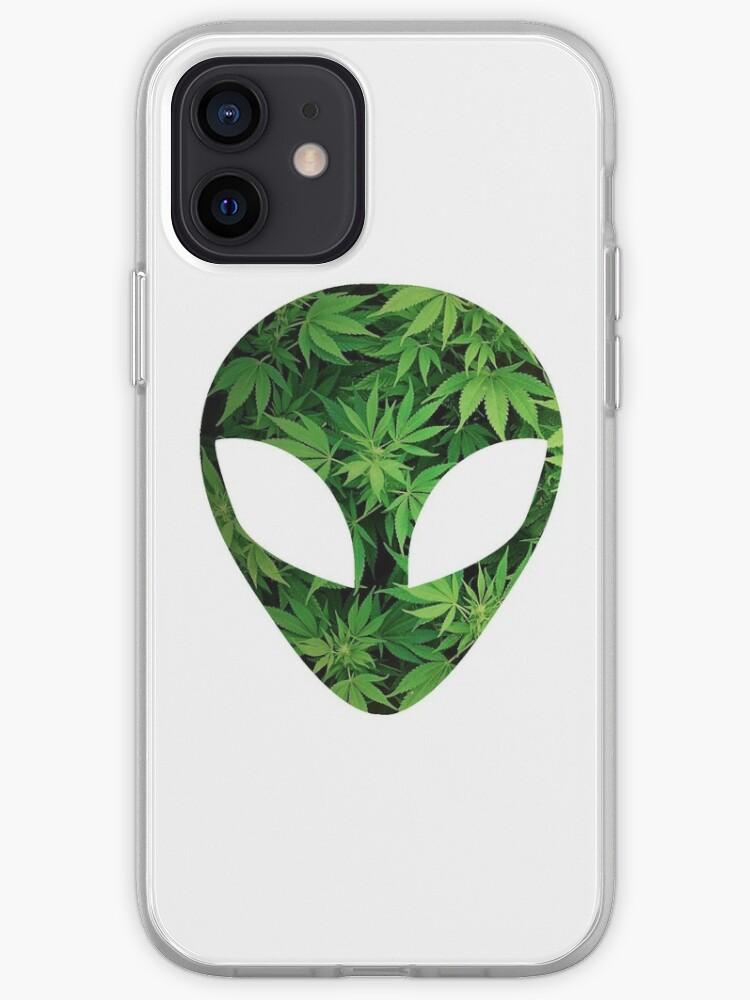 Weed Alien   Coque iPhone