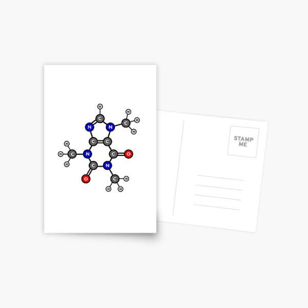 Caffeine - Color Molecule Postcard