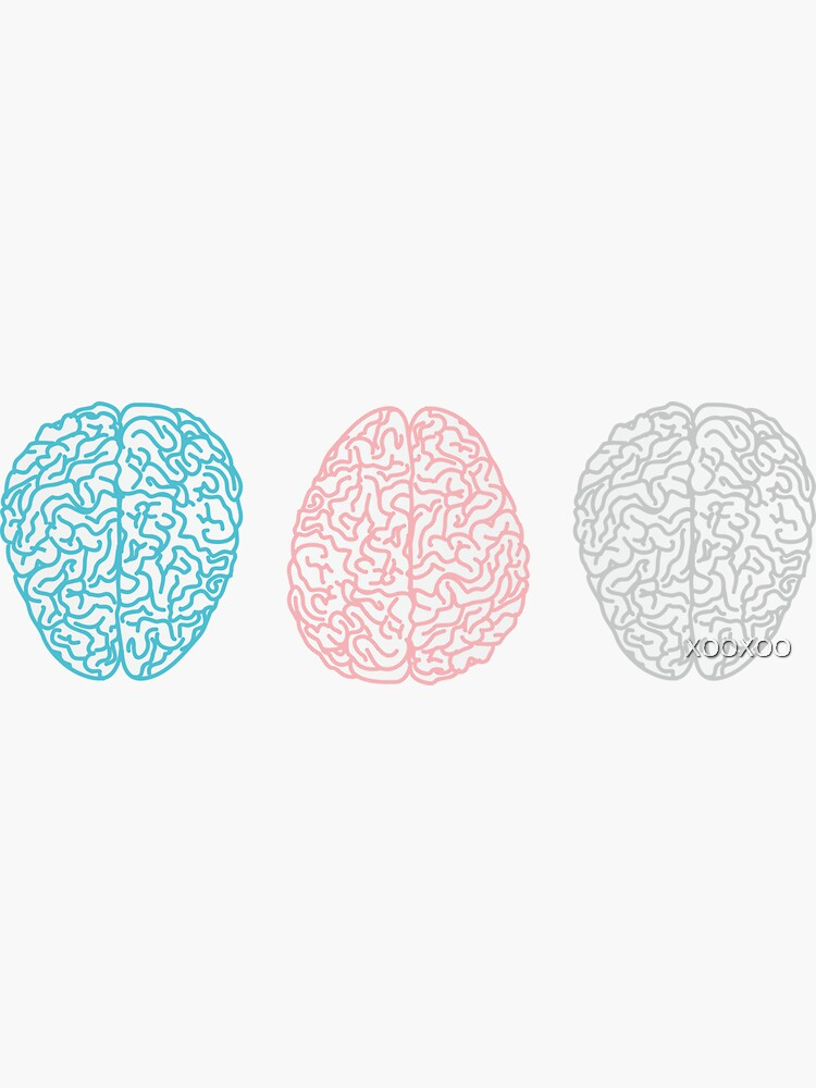 Brainy Pastel Pattern (Awesome Pastel Brains) de XOOXOO