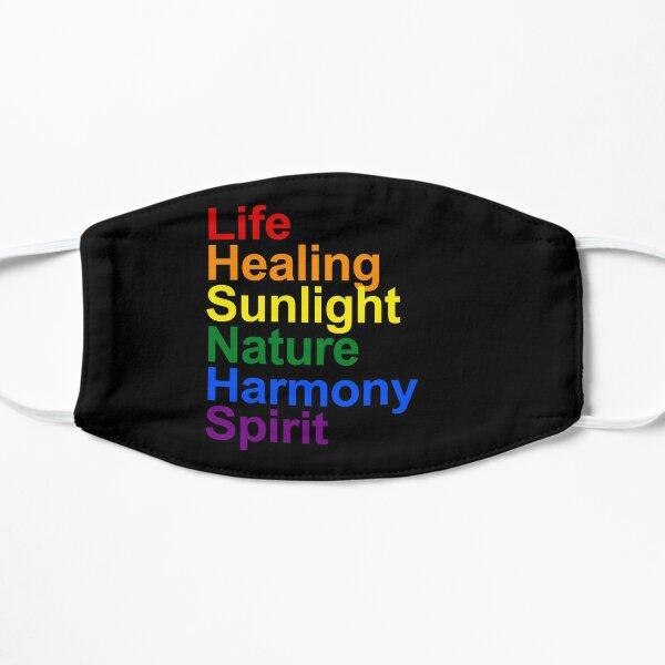 Rainbow Colours Explained Flat Mask