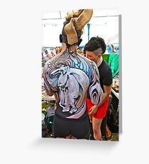Punked Stallion Greeting Card