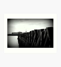 north shields beach breakers Art Print