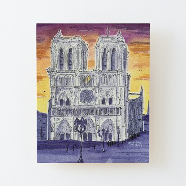 Notre Dame Cathedral Wood Mounted Print