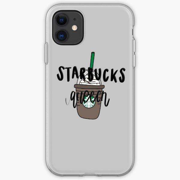Starbucks queen with Starbucks drink iPhone Soft Case