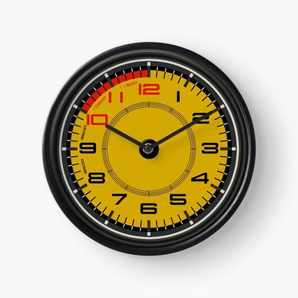 458 chevaux jaunes spéciaux Horloge