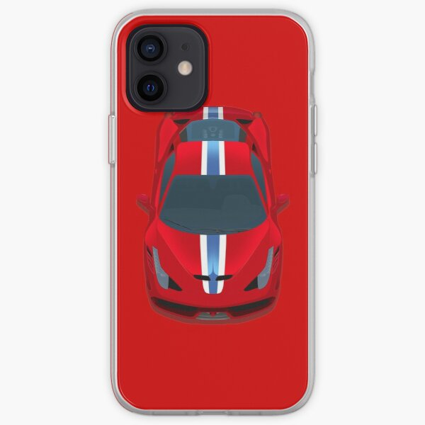 458 chevaux rouges Coque souple iPhone