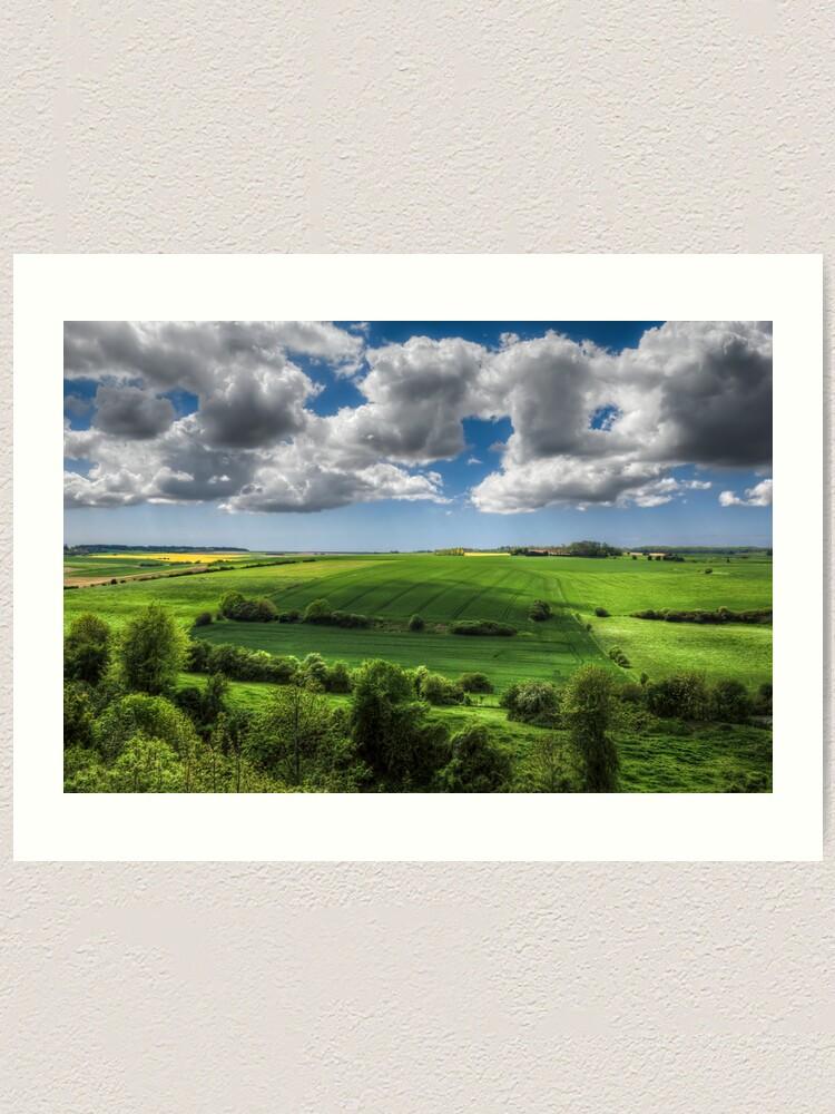 Alternate view of Summer Fields Art Print